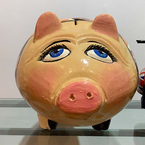 Ceramic Piggy Bank in Dr Finkelstein's Surgery